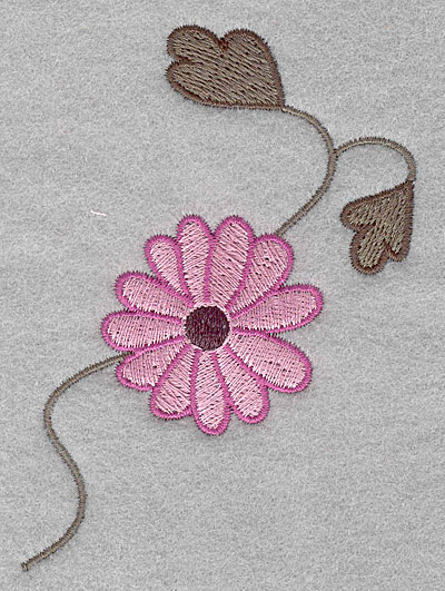 """Embroidery Design: Asian flower C small  3.90""""h x 2.66""""w"""
