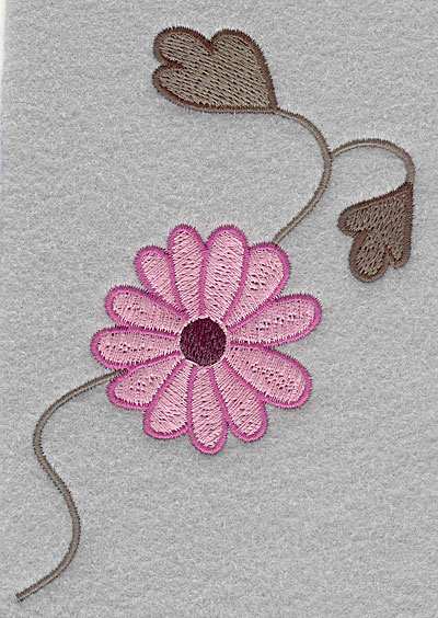 """Embroidery Design: Asian flower C large  5.00""""h x 3.40""""w"""