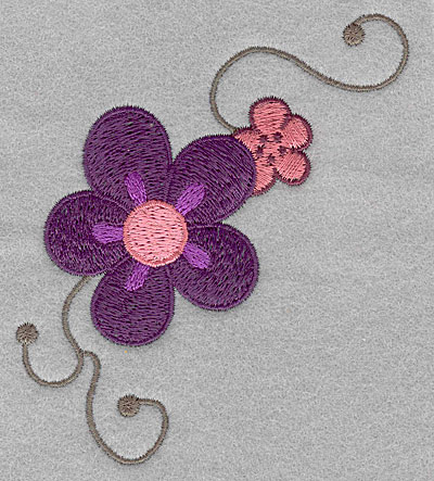 """Embroidery Design: Asian flowers small  3.90""""h x 3.54""""w"""