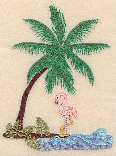 """Embroidery Design: Island Scene 4.97""""w X 6.57""""h"""