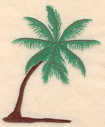 """Embroidery Design: Palm Tree large 4.03""""w X 4.99""""h"""