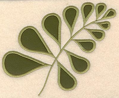 "Embroidery Design: Fern applique 6.04""w X 4.96""h"