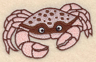 "Embroidery Design: Crab small 3.49"" w X 2.18""h"