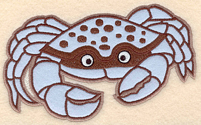 """Embroidery Design: Crab large applique 6.22""""w X 3.94""""h"""