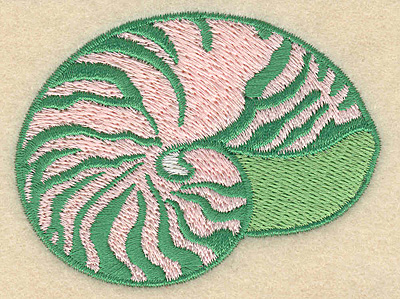 "Embroidery Design: Seashell small 3.07""w X 2.31""h"