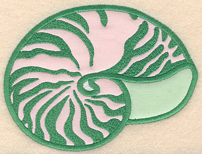 """Embroidery Design: Seashell large applique 5.00""""w X 3.76""""h"""