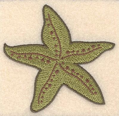 "Embroidery Design: Starfish small 3.09""x X 3.02""h"