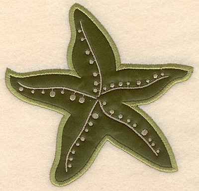 """Embroidery Design: Starfish large applique 5.05""""w X 4.95""""h"""