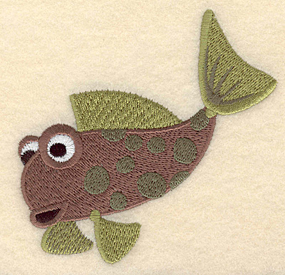 "Embroidery Design: Fantasy fish 1 large 3.77""w X 3.90""h"