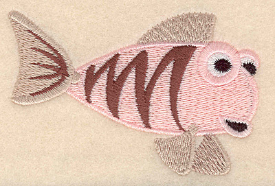 """Embroidery Design: Fantasy fish 2 large 3.90""""w X 2.47""""h"""