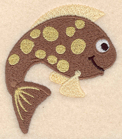 """Embroidery Design: Fantasy fish 3 large 3.00""""w X 3.56""""h"""