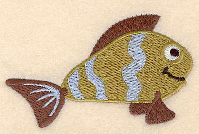 "Embroidery Design: Fantasy fish 4 large 3.90""w X 2.31""h"