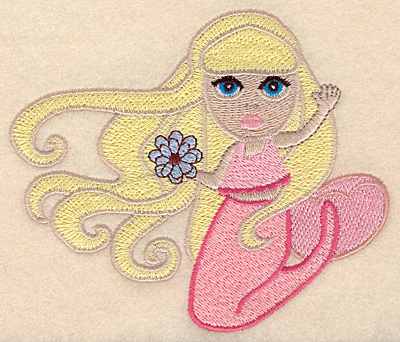 """Embroidery Design: Mermaid large 5.00""""w X 4.23""""h"""