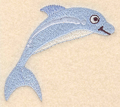 "Embroidery Design: Dolphin small 3.00""w X 2.73""h"