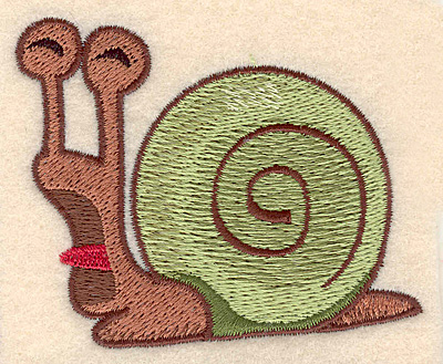 """Embroidery Design: Snail small 3.08""""w X 2.49""""h"""