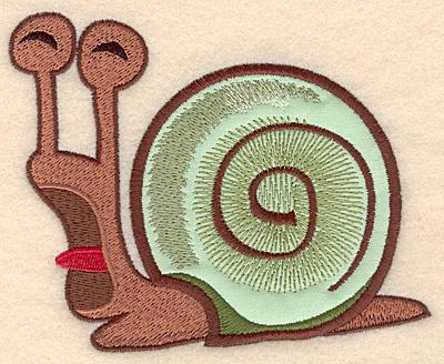 "Embroidery Design: Snail large applique 5.00""w X 4.05""h"