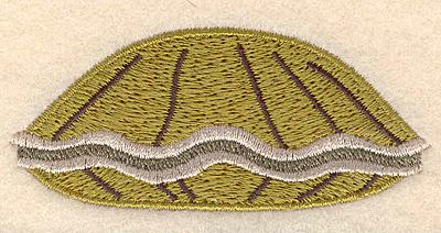 "Embroidery Design: Clam small 2.97""w X 1.31""h"