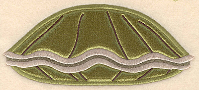 """Embroidery Design: Clam large applique 6.00""""w X 2.61""""h"""