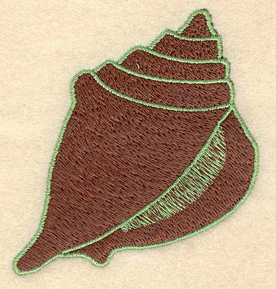 "Embroidery Design: Seashell small 2.89""w X 3.06""h"