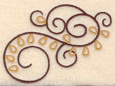 """Embroidery Design: Swirl design 1 5.02""""w X 3.11""""h"""