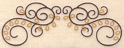 """Embroidery Design: Swirl design 1 double  6.99""""w X 2.58""""h"""