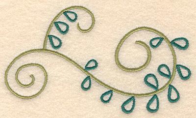 "Embroidery Design: Swirl design 2 large 5.00""w X 2.88""h"