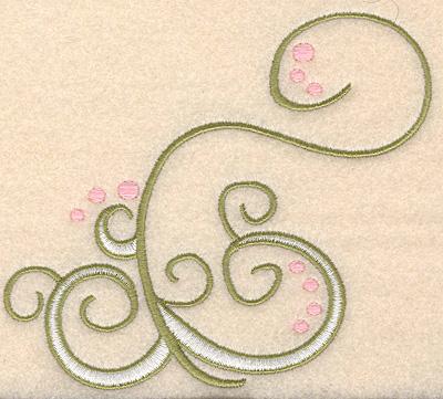 "Embroidery Design: Swirl design 3 large 5.00""w X 4.51""h"