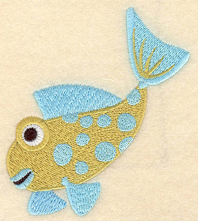 """Embroidery Design: Fish A large 3.66""""w X 3.90""""h"""