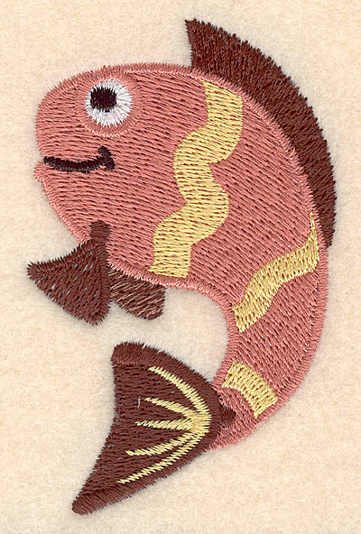 "Embroidery Design: Fish C large 2.16""w X 3.52""h"