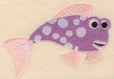 """Embroidery Design: Fish D large 3.90""""w X 2.76""""h"""