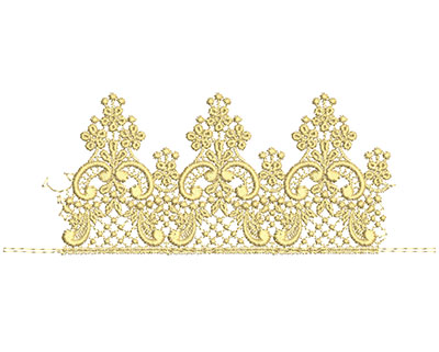 Embroidery Design: Lace from the Vault 1 Design 7 3.31w X 8.76h