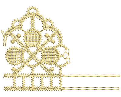 Embroidery Design: Lace from the Vault 1 Design 8 2.30w X 1.64h