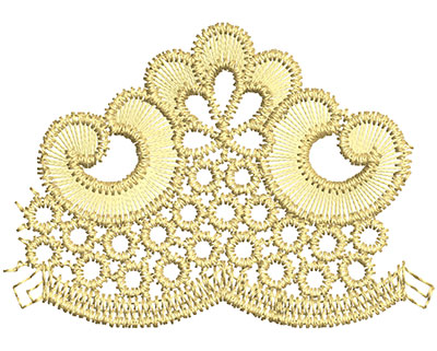 Embroidery Design: Lace from the Vault 1 Design 10 1.81w X 2.55h