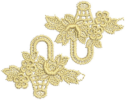 Embroidery Design: Lace from the Vault 2 Design 5 2.81w X 3.50h