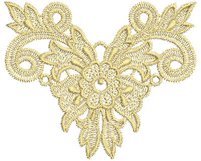 Embroidery Design: Lace from the Vault 3 Design 2 4.67w X 3.84h