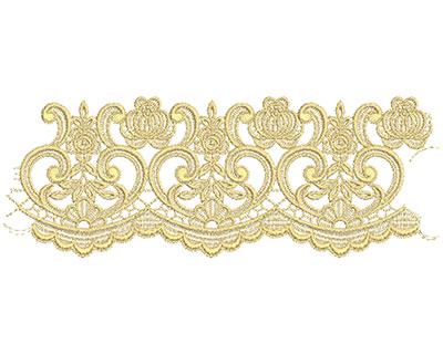 Embroidery Design: Lace from the Vault 3 Design 5 4.05w X 10.92h