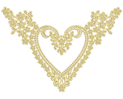 Embroidery Design: Lace from the Vault 3 Design 11 6.04w X 8.57h