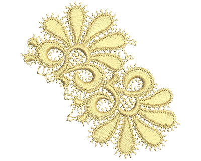 Embroidery Design: Lace from the Vault 4 Design 10 3.41w X 3.41h