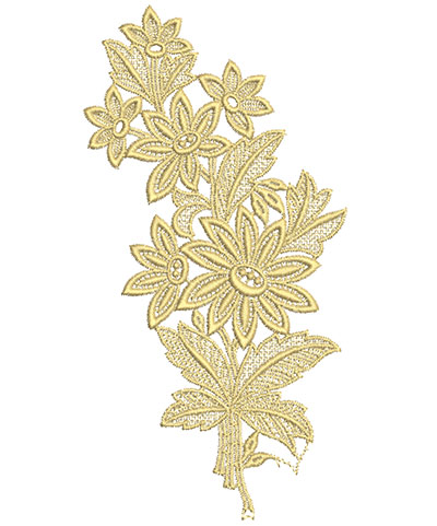 Embroidery Design: Lace from the Vault 5 Design 1 8.43w X 4.32h