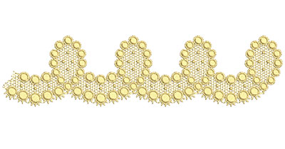 Embroidery Design: Lace from the Vault 5 Design 10 2.33w X 9.18h