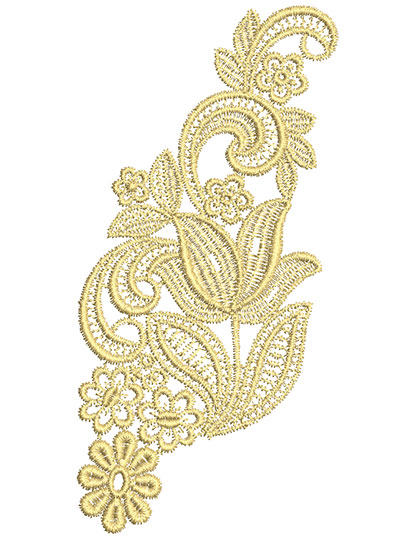 Embroidery Design: Lace from the Vault 7 Design 1 3.29w X 6.64h