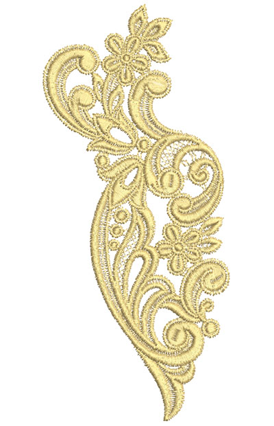 Embroidery Design: Lace from the Vault 7 Design 2 3.76w X 8.39h