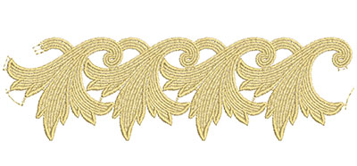 Embroidery Design: Lace from the Vault 7 Design 4 9.81w X 2.89h