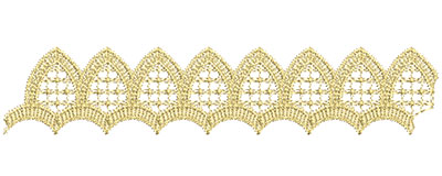 Embroidery Design: Lace from the Vault 7 Design 7 9.30w X 1.88h