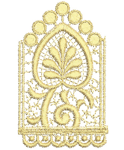 Embroidery Design: Lace from the Vault 7 Design 11 2.43w X 3.93h