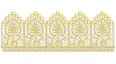 Embroidery Design: Lace from the Vault 7 Design 12 11.10w X 3.93h