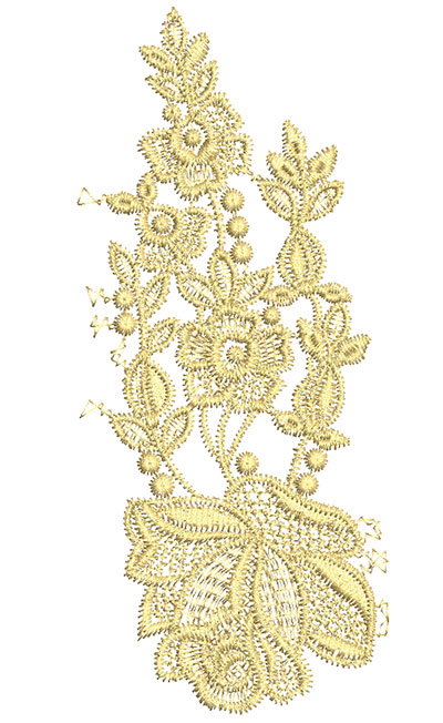 Embroidery Design: Lace from the Vault 8 Design 6 2.77w X 6.32h