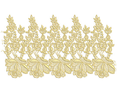 Embroidery Design: Lace from the Vault 8 Design 7 6.32w X 11.3h