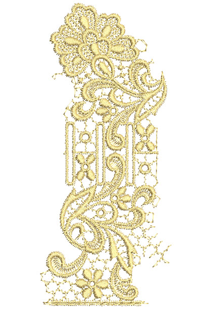 Embroidery Design: Lace from the Vault 8 Design 8 7.3w X 3.16h