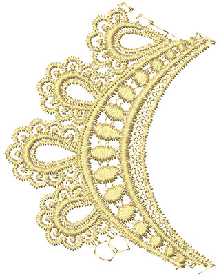 Embroidery Design: Lace from the Vault 9 Design 1 3.05w X 3.91h